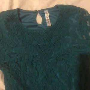 Knitworks Dresses - Green lace midi dress